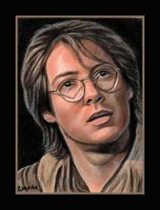 Daniel Jackson Portrait Stargate SG1 ACEO Art miniature Sketch Card Drawing