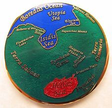 Oceans of Mars Geocoin - Savage Daughters Arise Edition - Glass and Glitter