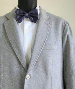 NWT Brooks Brothers Men's Gray Cotton Patch Pockets Sport Coat Sz Large