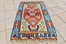 1990's Never Been Used Turkish Konya Kilim Anatolian Special Production Kilim