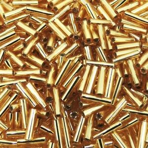 Spacer Tubes RSG529 Long Round Tube Beads 7x50mm Rose Gold Plated Round Tubes