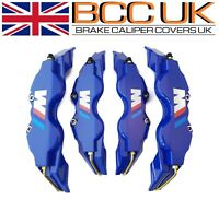 NEW BIG BLUE Brake Caliper Covers Kit White ///M Logo Front Rear 4x L+M fits BMW