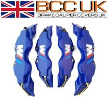 NEW BIG BLUE Brake Caliper Covers Kit White ///M Logo Front Rear 4x L+M fits BMW
