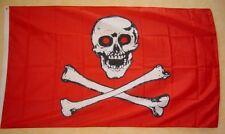 Fahne Flaggen PIRAT ROT ROTE AUGEN 150x90cm TDShop24