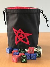 Cthulhu 'Elder Sign' Dice Bag in 'Red'