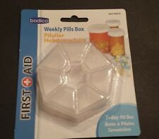 Weekly Pill and Vitamin Box 7 Day Compartments One for Each Day of the Week 3""