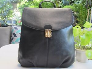 NEW - Backpack -  Genuine Cowhide Leather - Black