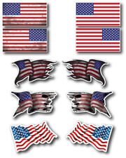 10pk Hard Hat American Usa Flag Decal Sticker Construction Union Small Car Truck