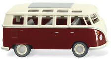 Wiking 079722 VW T1 Autobús de la Samba Rojo Vino / Beige Ho 1:87 Nuevo