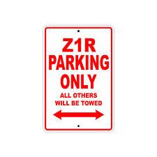 KAWASAKI Z1R Parking Only Towed Motorcycle Bike Chopper Aluminum Sign