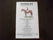 NEWBURY RACE CARD MARCH 6TH, 1993 - THE ROCKING HORSE CHASE & PANTO PRINCE