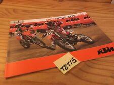 KTM sport minicycle 2006 85 65 50 SX senior mini adventure supermoto prospectus