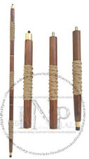 Jute Rope Victorian Cane Wooden Folding Walking Stick Vintage Style Shaft Gift