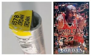"VINTAGE SEALED MICHAEL JORDAN POSTER ~ 1998 Collage 23x35"" #6578 Nike Costacos ~"