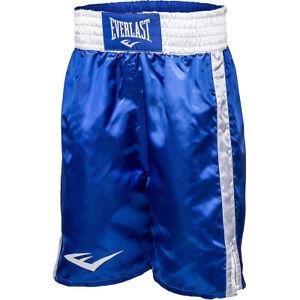 Everlast Standard Bottom of Knee Boxing Trunks - Blue/White