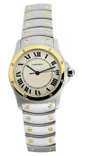 New Cartier Santos Ronde 1551 Two Tone 30mm Unisex Quarts Watch Never Worn