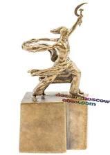 Bronze Brass Decorative BELL Soviet Propaganda Worker and Kolkhoz Woman IronWork