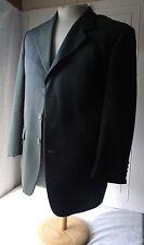 Mens Blazer Sport Coat Suit Jacket Biella Marco Biella Dark Green 40R 100% Wool