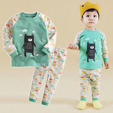 "Vaenait Baby Toddler Kids Boys Clothes Pajama Sleepwear Set ""Bear Friend"" 12M-7T"
