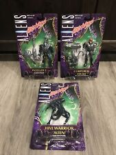 New Listing1998 Kenner Aliens Hive Wars Lot 3 Figures Sealed On Card