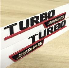 Black TURBO AMG Side Decal Badge Sticker Mercedes-Benz GLC220 GLC250 GLC43 AMG