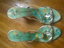 Designer GUISEPPE ZANOTTI Pearled and Jeweled Elegant Heels Shoes Sz 38