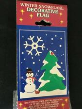 Porch flag winter snowflake snowman 28 x 44 NEW in package