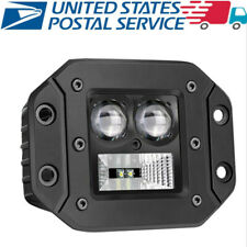 "3"" Flush Mount 7D LED 6000K White 6400LM Car Driving Light Spot Flood Combo Lamp"