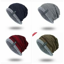 Sombrero del Invierno Gorros Slouchy grueso para hombre Mujer Cálido Suave Tapas de cráneo Tejer