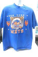 Vintage 1991 New York Mets Baseball Bat Logo Shirt Size XXL Blue