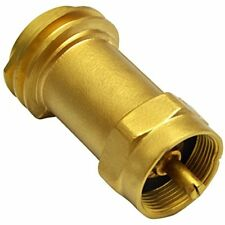 Disposable Propane Cylinder Bottle Adapter- 1LB Tank Gas Grill Connector, Brass