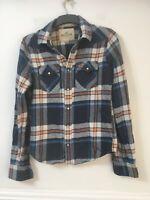Hollister Mens Plaid Cotton Long Sleeve Shirt Size M(F220)
