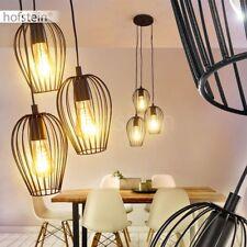 Pendel Leuchten Retro Hänge Lampen Ess Wohn Schlaf Zimmer Beleuchtung schwarz