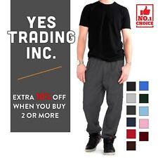 Men's Skinny Plain Jogger Fleece Winter Sweatpants with Pockets Elastic Ankels