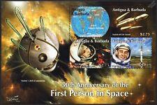 YURI GAGARIN/Gus Grissom/VOSTOK Rocket/Spacecraft/First Man in Space Stamp Sheet