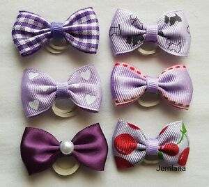 Handmade dog,cat,pet grooming bows(for 6 bows )