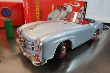 Schuco 2095 MERCEDES 190 SL Silber Tinplate Replika Sammlerstück BB/18/7/2