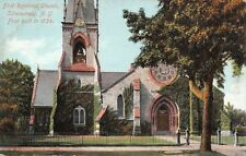 Schenectady New York~First Reformed Church~Clock Tower~Wrought Iron Fence~1910