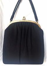 Vintage 50's Ingber Black Wool Felt Handbag in Excellent Condition