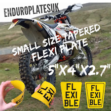 FLEXIBLE Small TAPERED SHOW NUMBER PLATE KTM EXC ENDURO MOTORCYCLE FLEXI REG