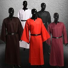 Medieval Renaissance Cosplay Costume Larp Wicca Pagan Ritual Robe Gown With Belt
