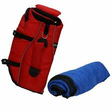 Reflective Life Jacket For Dog Small- 20kg Weight Capacity & Microfibre Towel