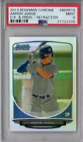 PSA 9 AARON JUDGE 1st 2013 Bowman Chrome Draft REFRACTOR Rookie Card RC ROY MINT