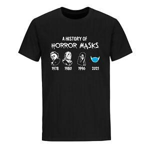 Halloween t-shirt Social Distancing T-shirt Funny Horror Masks Sarcastic Shirt