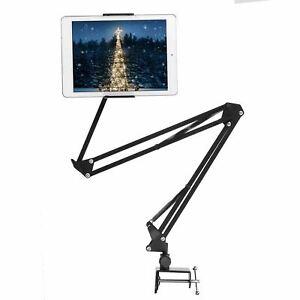 360 Flexible Desk Desktop Table Bed Long Arm Tablet Phone Holder Stand Clamp
