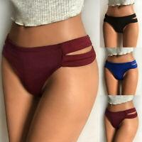 Sexy Women Solid Low Waist G-String Brief Pants Thong Lingerie Knicker Underwear