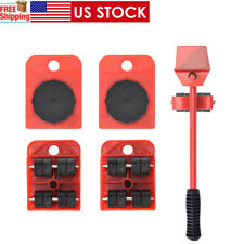 New listing 5pc Heavy Furniture Moving System Lifter Tool 4Slide Glider Pad Wheel Easy MoveQ