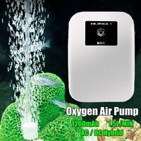 AC/DC Silent Aquarium Hydroponic Oxygen Air Pump Fish Tank Compressor Aerator