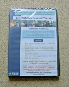 BRIEF SOLUTION FOCUSED THERAPY CD ROM.  SDS SEMINARS 2005. NEW AND SEALED.