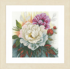 Lanarte White Rose Counted Cross Stitch Kit - 25 X 25cm Home & Garden Collection